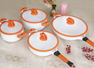 Casting Aluminum Cookware Set with Silicon Handle and Cover