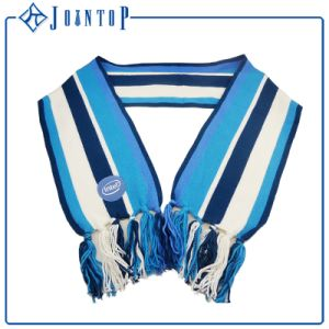 Fashion Stripes Jacquard Acrylic Knit Scarf for Woman pictures & photos