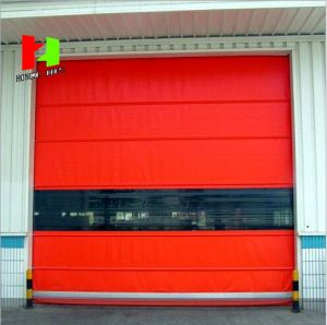 Automatic PVC Outdoor Industrial Rapid Rolling Fabric High Speed Folding Gate pictures & photos