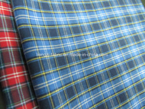 CVC Yarn Dyed Poplin Check Fabric for Shirt pictures & photos