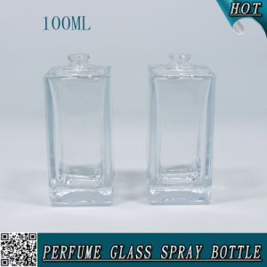 100ml Rectangular Clear Empty Perfume Glass Bottle Weight 100 Ml pictures & photos