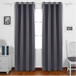 Darkening Thermal Insulated Blackout Grommet Window Curtain for Bedroom pictures & photos