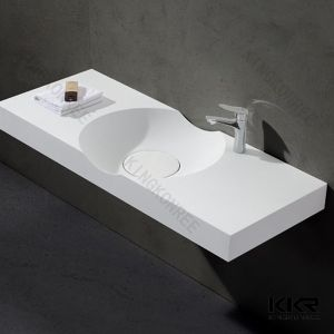 Modern Hotel Bathroom Wall Hung Wash Basin pictures & photos