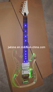 Acrylic Body LED Light on Body and Fretboard Electric Guitar pictures & photos