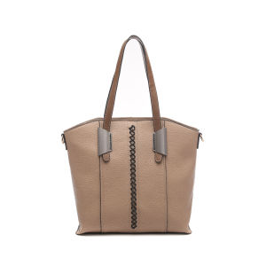 Casual Thread Decorated Mature Women Shoulder Bag (MBNO043025) pictures & photos