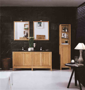 Customized PVC Veneer Plywood Solid Wood Bathroom Cabinet