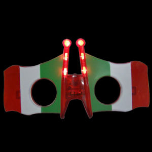 Italy Flag LED Flashing Glasses (QY-LS300I) pictures & photos