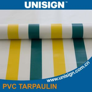 PVC Striped Tarpaulin for Truck Cover/ Tent Cover pictures & photos