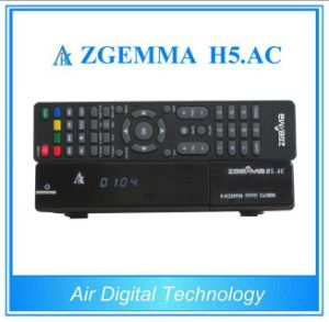 DVB-S2+ATSC Hevc/H. 265 Twin Tuners Linux OS Enigma2 Digital Satellite TV Receiver Zgemma H5. AC pictures & photos