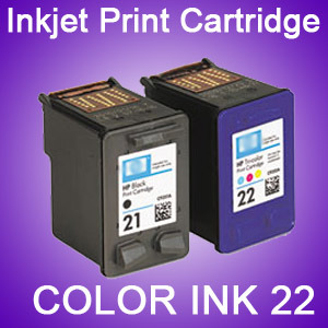 Color Ink Cartridges 22 for HP Printer