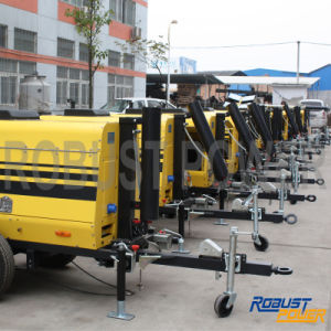 Telescopic Electronic Controlled Portable Soundproof Mobile Light Tower pictures & photos