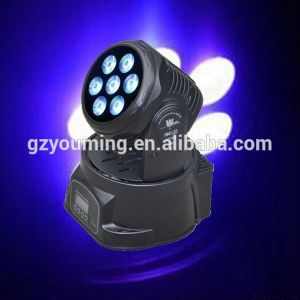New 7PCS*10W RGBW 4in1 LED Moving Head Wash