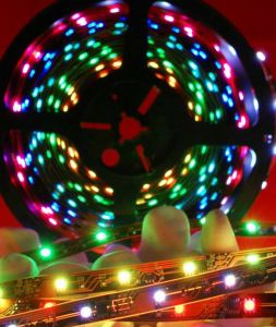 Non-Waterproof RGB Flexible Strip with Chasing (30LEDs/M) pictures & photos