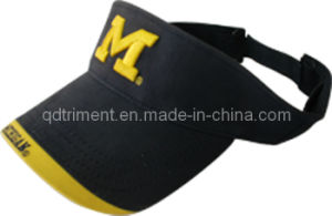 Top Quality Joint Panel Embroidery Twill Sport Golf Visor (TRV011) pictures & photos
