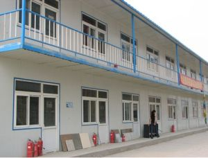 Prefabricated 2 Storey House/Building for Temporary  Living or Office (Flat Roof-78007mA)