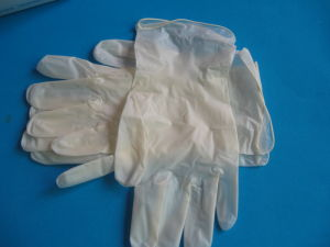 Disposable Vinyl Synthetic Gloves (Powder free) pictures & photos