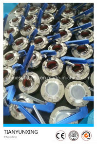 304L / 316L Lever Welding Stainless Steel Sanitary Butterfly Valve pictures & photos