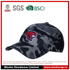Polyester Mesh Camouflage Color Embroidery Unisex Baseball Cap pictures & photos