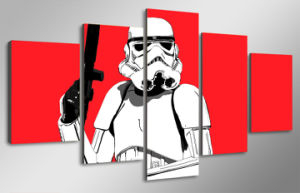 HD Printed Stormtrooper Red Painting Canvas Print Room Decor Print Poster Picture Canvas Mc-140 pictures & photos