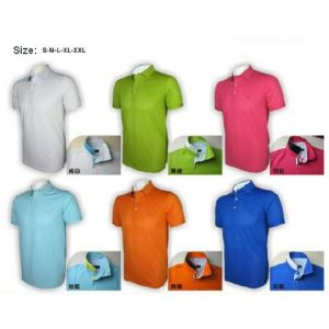 OEM Short Sleeve Golf T Shirt for Men Multi Color pictures & photos