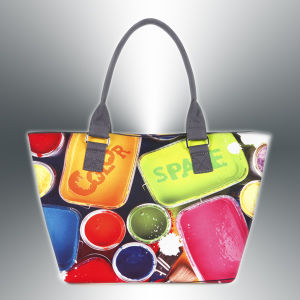 Ladies′ Polyester Digital Printed Bag pictures & photos
