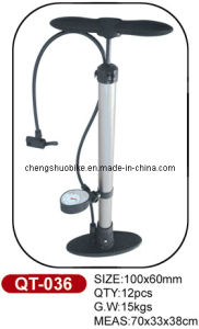 High-Grade Bicycle Pump Qt-036 with Guage pictures & photos