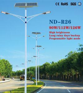 112W LED High Brightness Solar Street Light on Sale pictures & photos