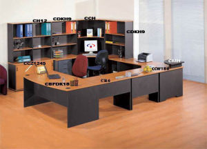 Workstation / Melamine / Office Desk / Office Furniture (Assamble-D)
