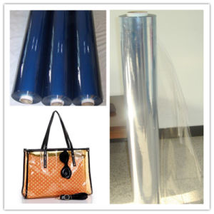 Soft PVC Transparent Film Colorful Transparent Film Blue pictures & photos