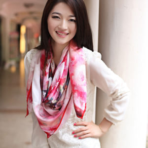 Silk Printed Shawl (12-BR050303-15) pictures & photos