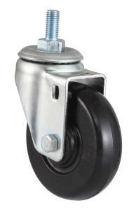 Swivel Rubber Caster with Dual Brake (Black) pictures & photos