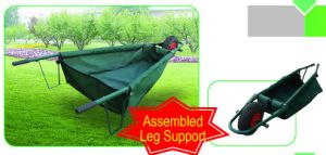 Garden Folding Wheelbarrow with Oxford Cloth Tray pictures & photos