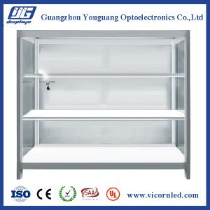 New Application Transparent Display Cabinet for Double side LED Display Cabinet-DISCA