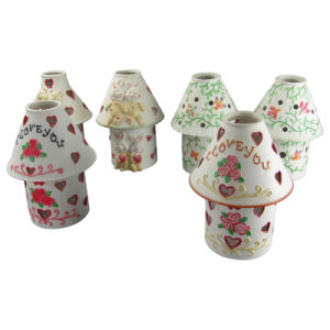 Lovely Carton Ceramic Tea light Lamp Chimney for Home Decoration pictures & photos