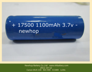 Lithium Ion Battery 17500 3.7V 1100mAh for Toy Battery