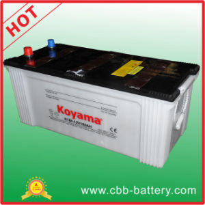 12V 180ah Dry Charge Automotive Battery for Heavy Duty Truck pictures & photos