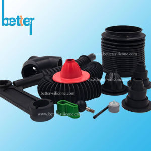 Custom Abrasion Resistant Buna-N EPDM Rubber Elbow Pipe pictures & photos