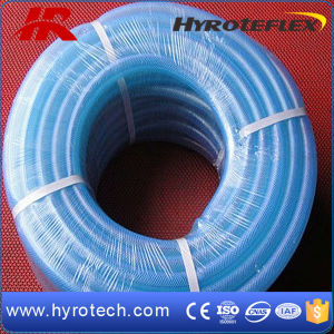 PVC Fiber Reinforced Crystal Hose Pipe/PVC Fiber Braided Hose pictures & photos