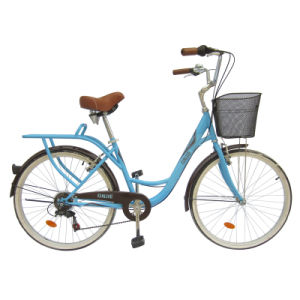 "26"" Steel Frame City Bike with Shimano 6sp Lady Bicycles"