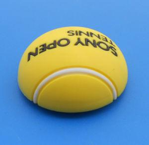 3D Soft PVC Rubber Tennis Ball Design Fridge Magnet pictures & photos