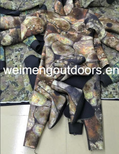 2016 New Style High Quality Neoprene Camouflage Open Cell Spearfishing Wetsuit,