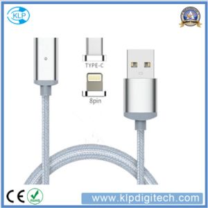 2 in 1 Nylon Braided Magnetic USB Charger Data Transfer Cable for Type-C iPhone pictures & photos