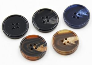 China Free Samples 2 Holes Polyester Resin Button pictures & photos