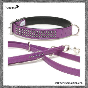 Bling Crystal Dog Collar and Leash Set (SPC7163-2) pictures & photos