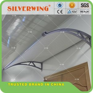 New Design Canopy with Water Gutter DIY Polycarbonate PC Awning for Door Window Cheap Price pictures & photos