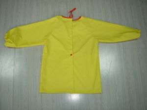 Kids PU Yellow Light Rain Jacket for Toddlers Rain Wear pictures & photos