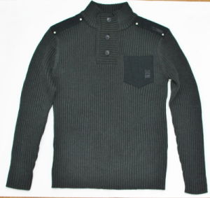 Men′s Pullovers Long Sleeve Fashion Sweater with Button and Pocket