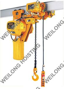 Single Chain, Low Headroom Electric Chain Hoist 2ton