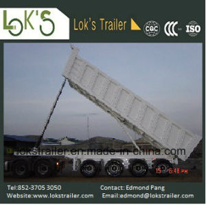 45cbm 4 Axles Rear Dump Tipper Trailer pictures & photos