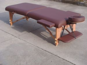 Memory Foam PU Wooden Massage Table pictures & photos